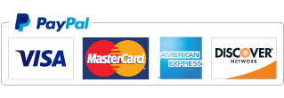 Accepting PayPal, VISA, Mastercard, American Express, and Discover Card