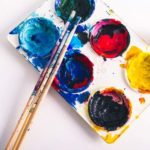 Paint palette and brushes