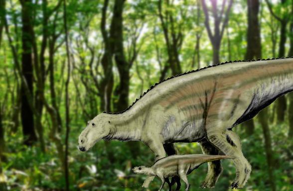 Big and little dinosaur