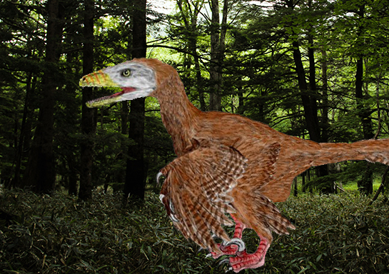 Dinosaur with wings