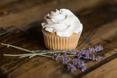Cupcake with white frosting